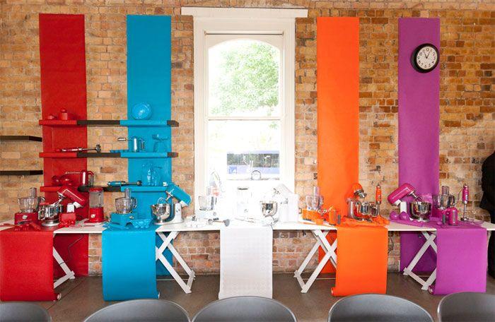 Match bright paint colours to kitchen appliances!