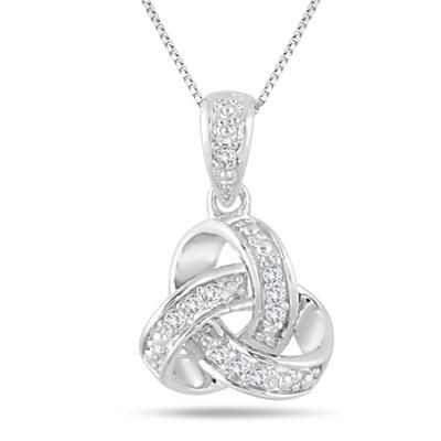 100 best diamond fashion pendants images on pinterest pendant diamond infinity knot pendant in 925 sterling silver audiocablefo
