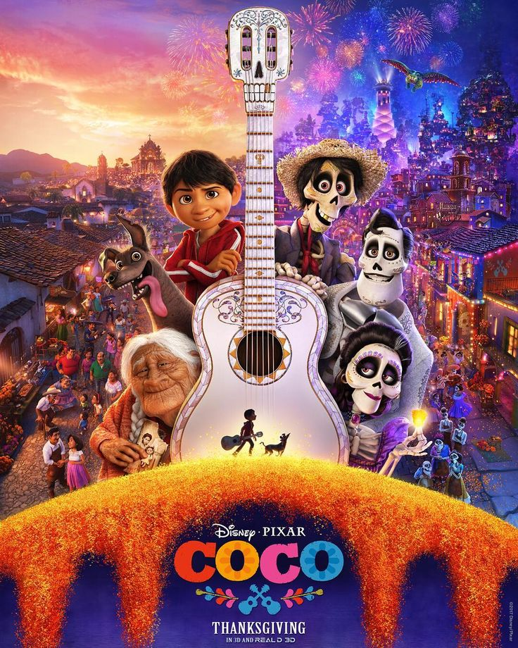 Check out the all new poster for @PixarCoco!  Tune in tomorrow at 9am PST for the brand-new trailer. #PixarCoco