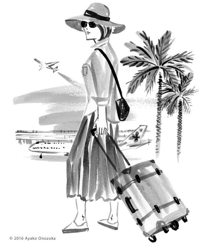 ayako onozuka #illustration #Fashion #Watercolor #イラストレーション #女性 #Woman #小野塚綾子 #Travel
