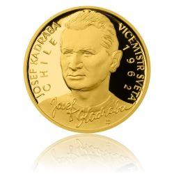 Zlatá čtvrtuncová mince 10 NZD Josef Kadraba proof