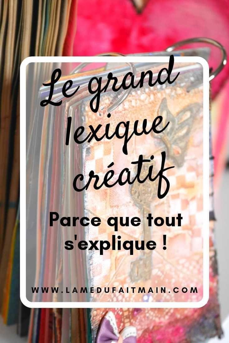 Lexique du monde créatif | Journal artistique, Creatif, Lexique