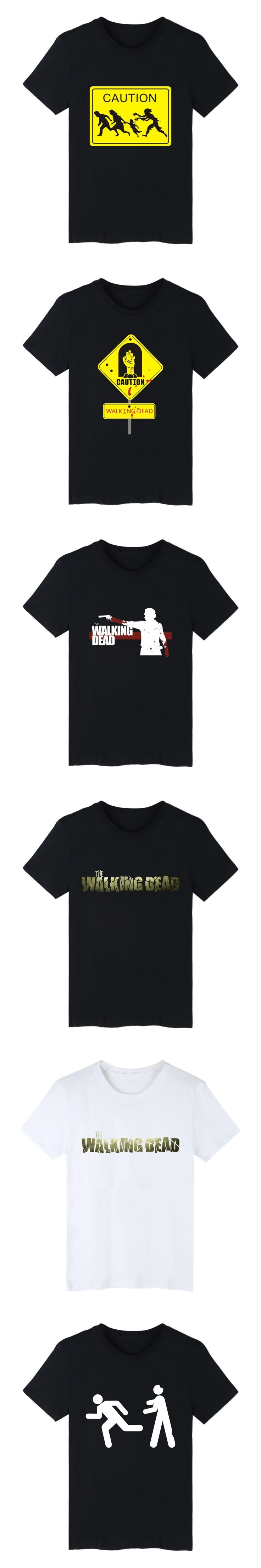 The Walking Dead Zombies Summer Cotton T-shirt Men Short Sleeve T Shirts with Men TShirt Brand Famous in Punk Tee Shirt