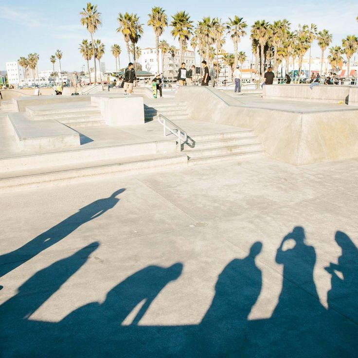 Venice Beach skatepark shadows. #everydaymadewell