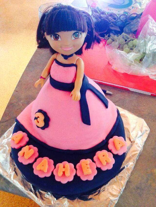 Dora cake 2014 Anahera 3rd birthday