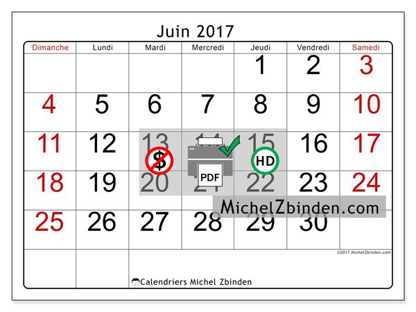 Calendrier juin 2017 - Emericus (ca)