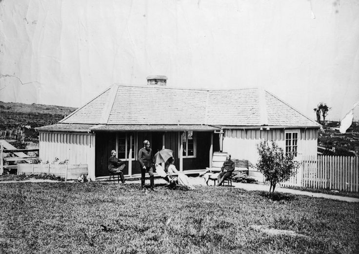 Headquarters of the New Zealand Armed Constabularyn at Opepe near Taupo...pre 1873