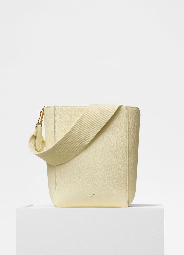 Sangle Small Bucket bag in soft grained calfskin - Handbags | CÉLINE