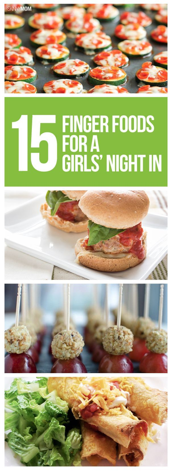 It's ladies' night! Make these fun foods for a girls night in! Now all you need is a glass of wine.