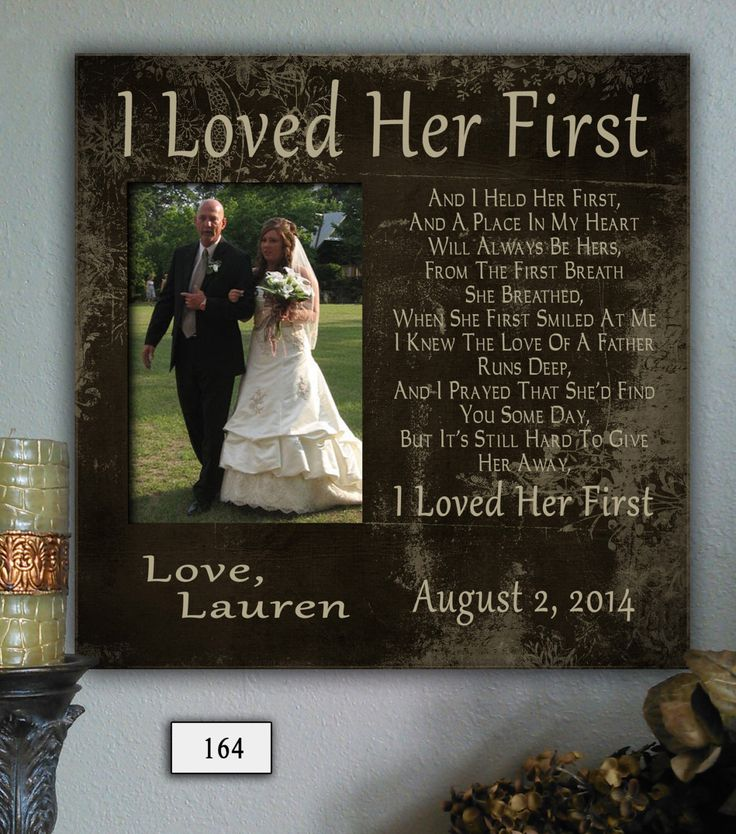 ILF, Father of the Bride Gift, Favorite Walk, Bridal Wedding Frame, Personalized Custom Frame, Wedding Gift for Dad, Picture Frame Dad by PhotoFrameCompany on Etsy https://www.etsy.com/listing/196173207/ilf-father-of-the-bride-gift-favorite