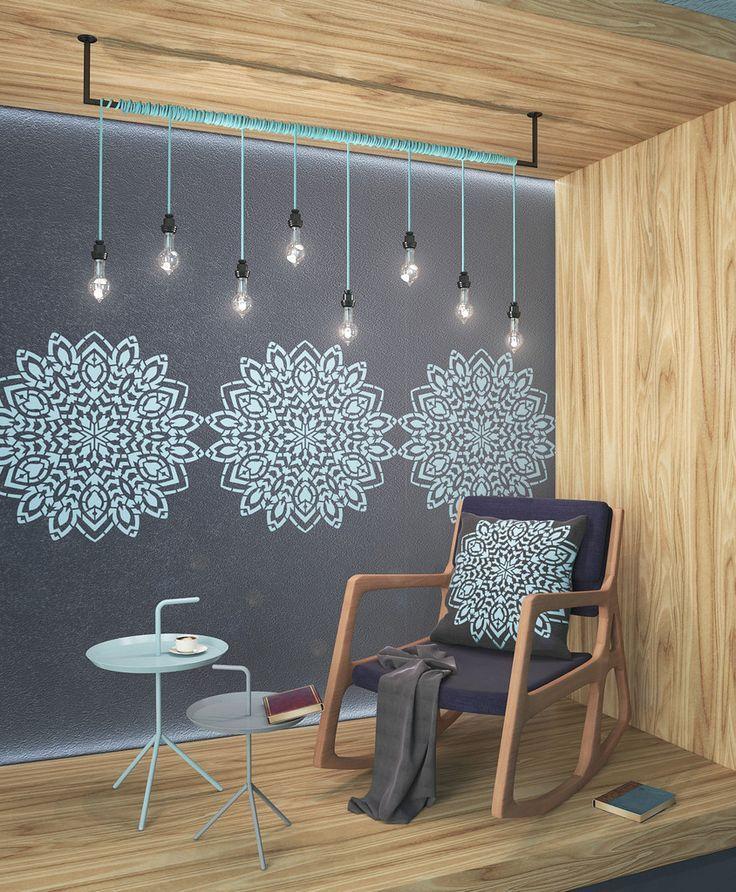 Round Mandala Stencil - Wall Painting Stencil - Unique Wall Stencil