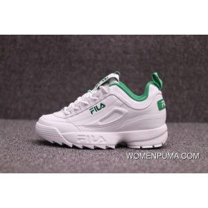 6d74684418abc8 Fila Disruptor Ii Sneaker In White And Green Color New Release in ...