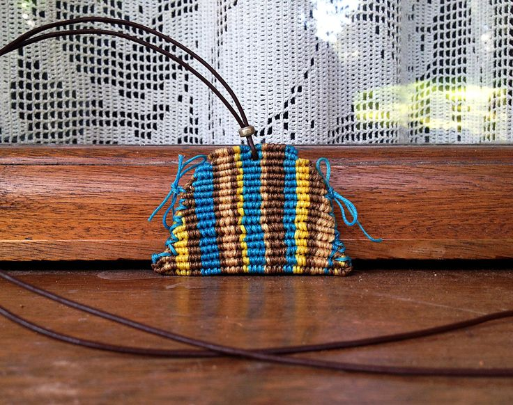 Beautiful pendant macrame coin purse. by Hishuk on Etsy