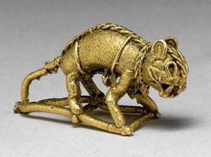 Feline Pendant  Muisca, Period V or VI  500-1500 CE