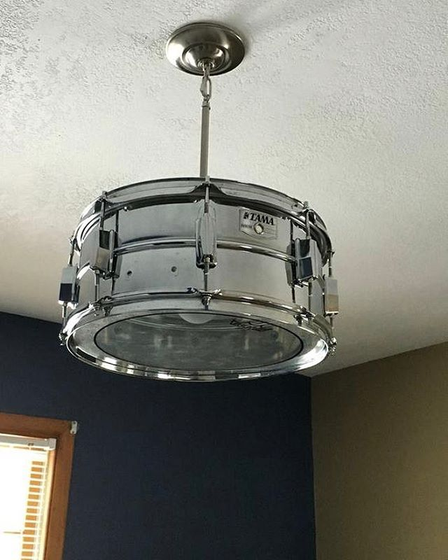 find this pin and more on creative lighting ideas by - Drum Pendant Lighting