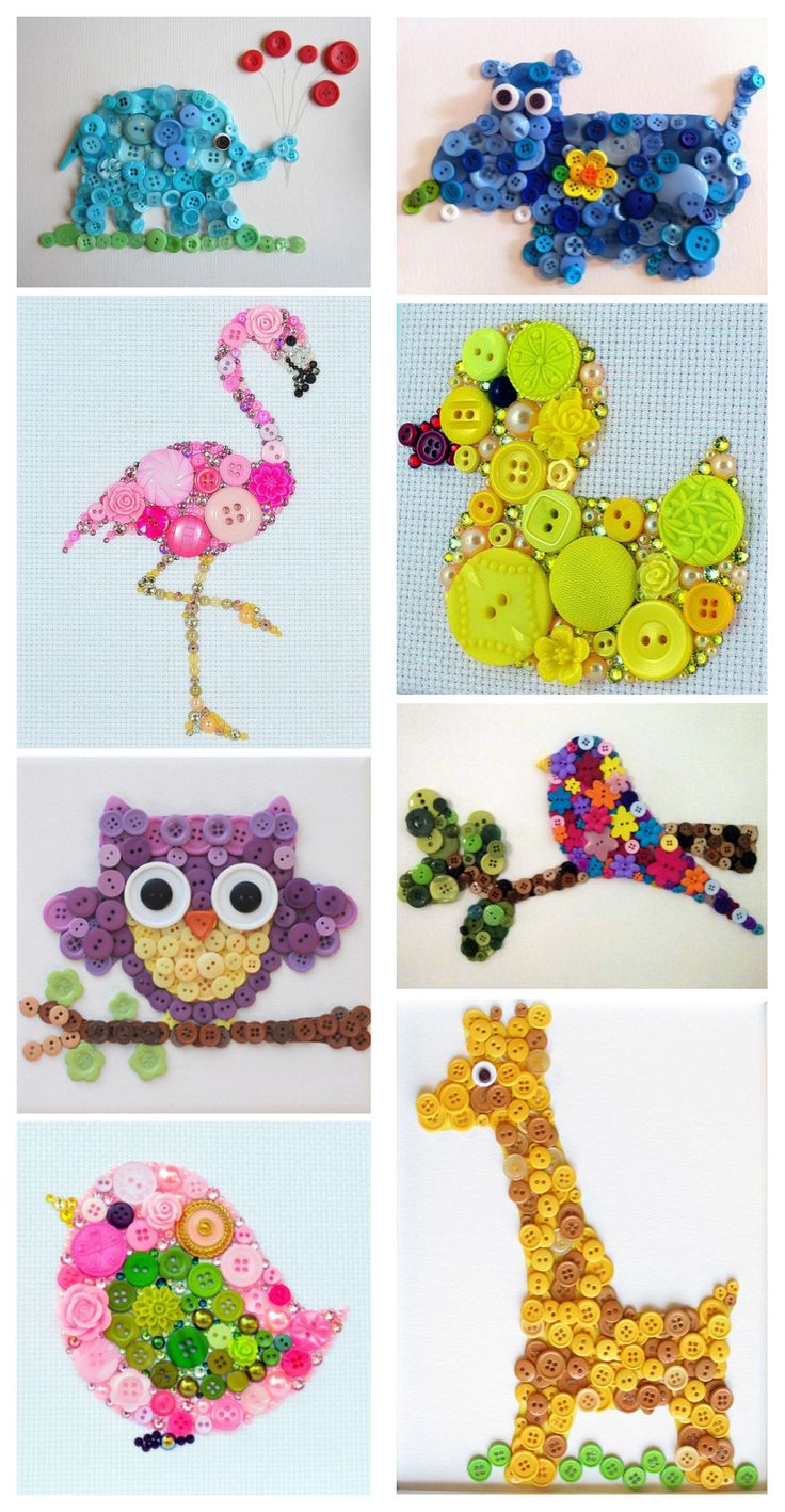 Ohmygoodness! What amazing button animal arts they are! The colors are great. Can't help collecting my interested ideas from pinterest and sharing with all of you guys! These cute and artistic butt...