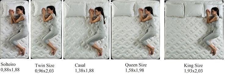 17 melhores ideias sobre medidas cama king no pinterest for Medidas camas americanas