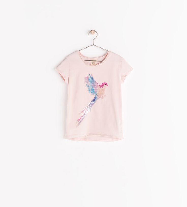 PRINTED T - SHIRT WITH SEQUINS - T - shirts - Girl (3 - 14 years) - KIDS | ZARA United States