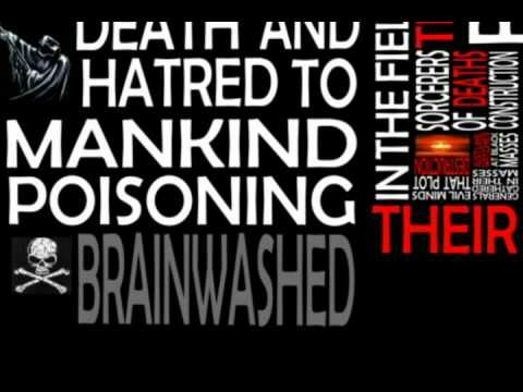Black Sabbath - War Pigs with lyrics - motion type typography