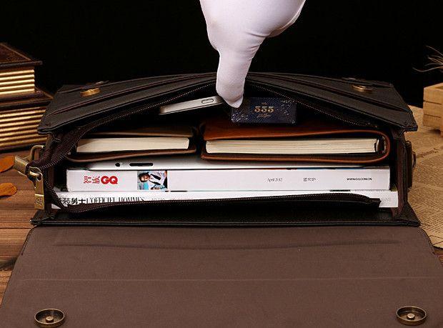 Мужской кожаный портфель Polo. Модель 423 купить, цена и продажа – delamoda.com.ua