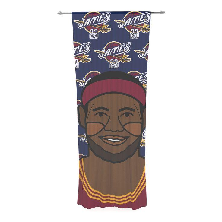 "Will Wild ""Lebron James"" Basketball Decorative Sheer Curtain"
