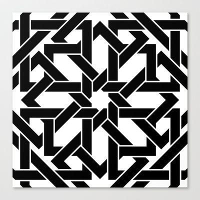 Moroccan Pattern 2 Canvas Print by Abdelati Dinar - $85.00