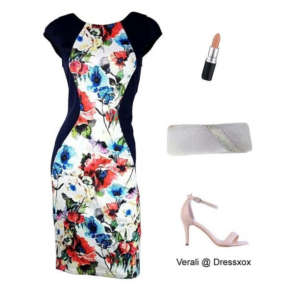 Geneviere Floral Slimming Cocktail Dress