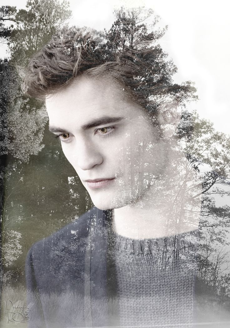 "dreamingofrob: "" More experiments with double exposure New moon Edward ♥♥♥ """
