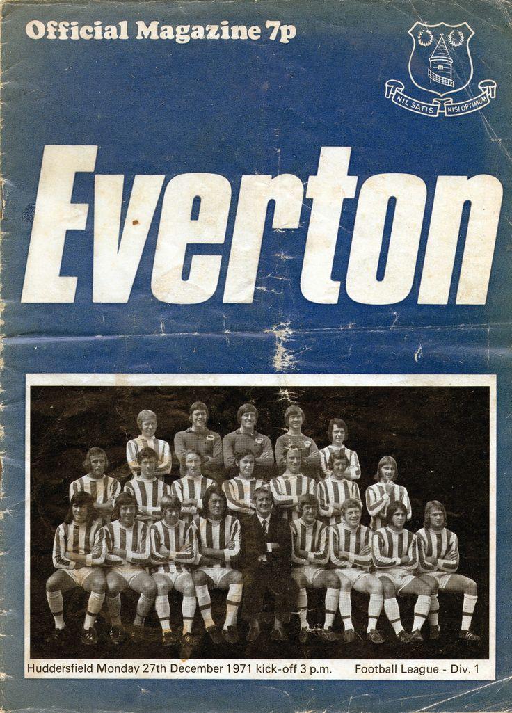 Everton v Huddersfield Town 1971-72 match programme