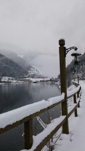 Beautiful winter scene from Uzungöl *-*