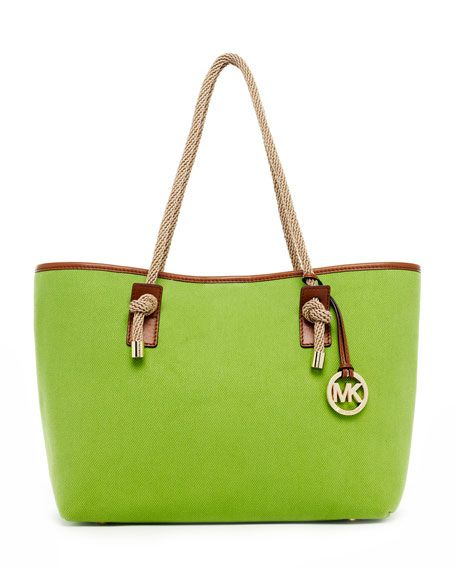 MK tote bag. Apple green. Great for casual days. Michael Kors ...