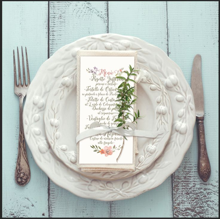 Vera&Matte Wedding  dinner menu