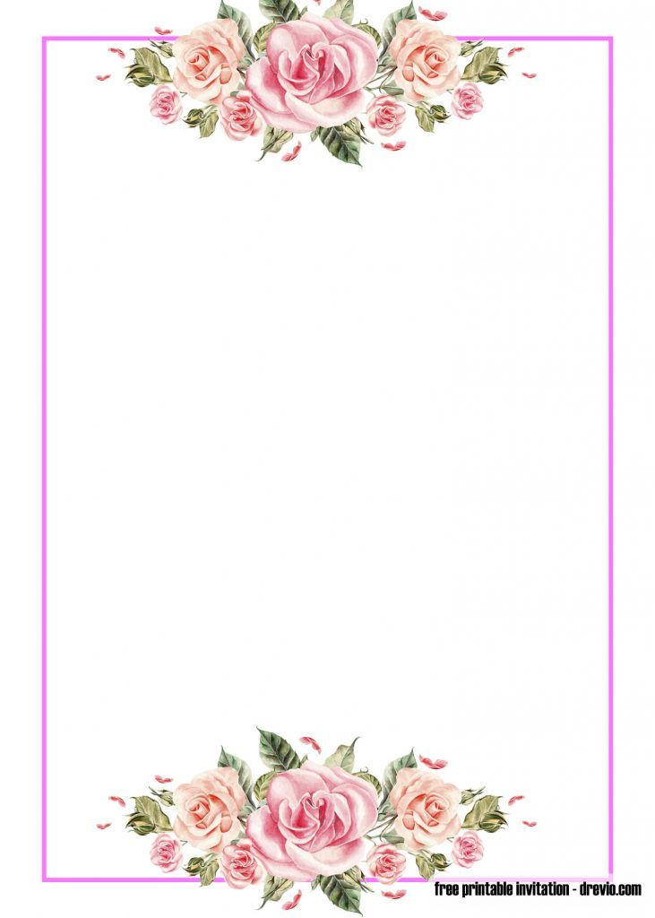 Free Pink Floral Invitation Templates Free Printable Baby Shower Invitations Templates Floral Invitations Template Floral Invitation Templates Printable Free