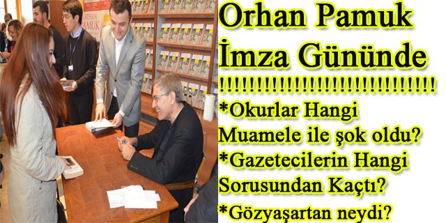 Orhan Pamuk imza gününde yaşanan tuhaflıklar. Kafamda Bir Tuhaflık romanının imza gününde 15 yıl sonra okurlarıyla biraraya gelirken pek çok tuhaflık vardı. http://724kultursanat.com/orhan-pamuk-imza-gunundeki-tuhafliklar/ #orhanpamuk #kafamdabirtuhaflık #orhanpamukimzagünü #724kultursanat