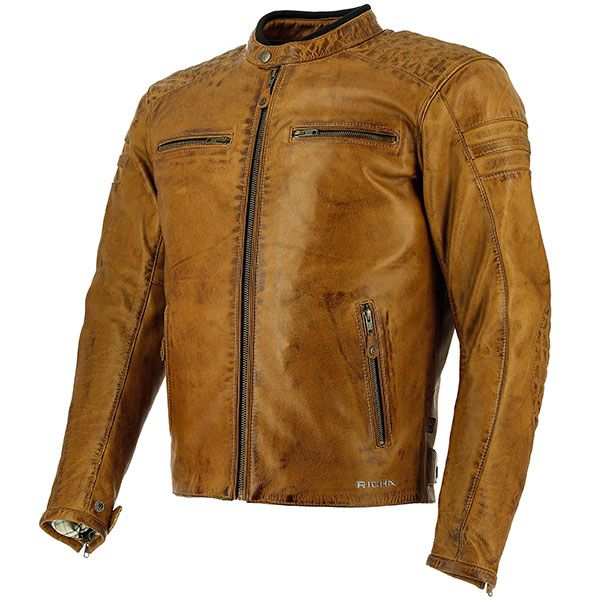 Richa Daytona 60S Leather Jacket - Cognac Thumb 0