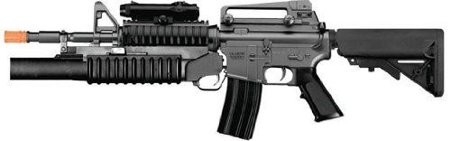 M3181ab M4a1 Carbine with M203 Grenade Launcher, 2 Mags, 2 Adjustable Stocks, 2 Handguards, Tactical Flashlight by ukarms m-series. $54.99. BOYi M3181AB AEG Auto Electric M4A1 Carbine RIS Airsoft Rifle (FPS-300)  Comes w/ M203 Grenade Launcher - (Plastic Gear Box) - Fully Loaded w/ Accessories   Item #: M3181AB   Features:   *   1/1 BOYi M3181AB Auto Electric Airsoft Rifle  *   Use 6mm 0.12g BB's  *   Fixed Hop-Up   Includes:   *   M3181AB AEG Airsoft Rifle - M4A1 Carbine R...