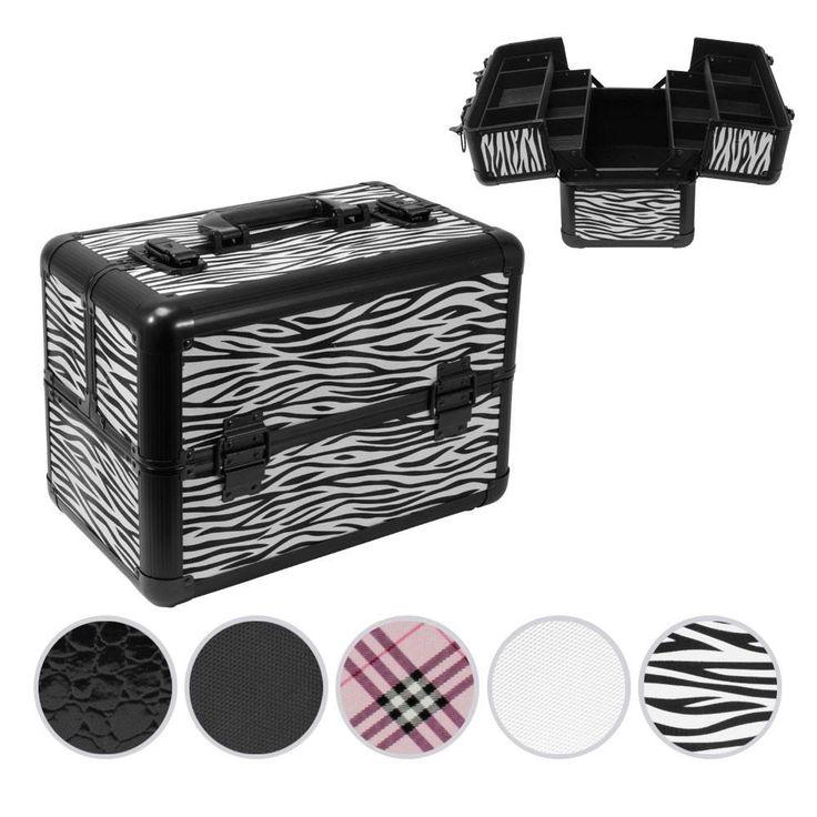 Lockable Makeup Carrying Case Cosmetic Train Lock Box