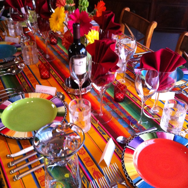 Southwest dinner setting: Dinners Sets, Fiestas Parties, Parties Stuff, Mexicans Parties, Fantastic Parties, Southwest Dinners, Parties Ideas, American Southwest, Parties Time