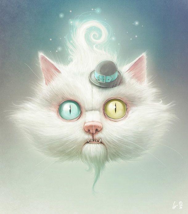 Meow ? – 19 nouvelles illustrations de Lukas Brezak | Ufunk.net