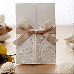 Non personalizzate Piegato da un lato Inviti di nozze Invito Cards Cartoline per festa di fidanzamento Busta Sticker-50 Pezzo/Set Moderno