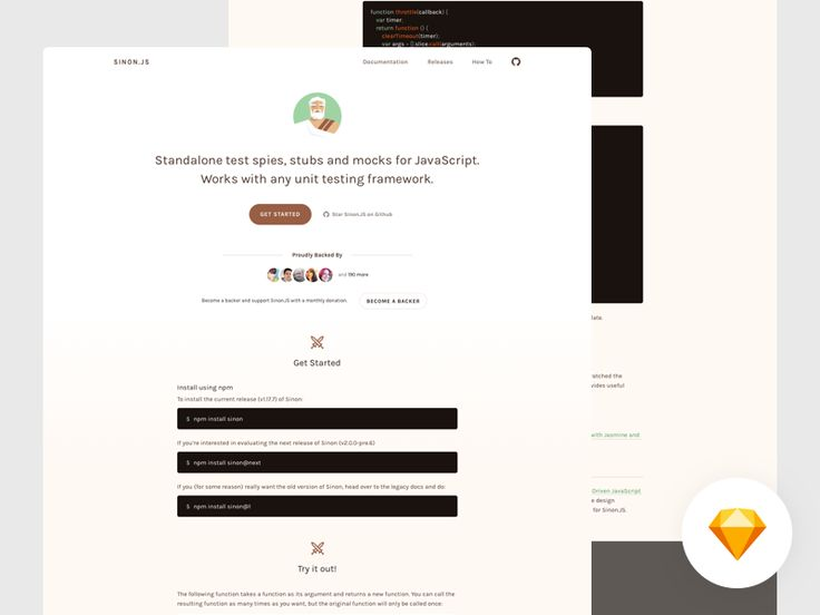 Hello folks! It's been a while.  A few months ago, as a member of Open Source Design, based on this issue, I help Sinon.JS to redesign the homepage. I'm so excited to contribute to open source proj...