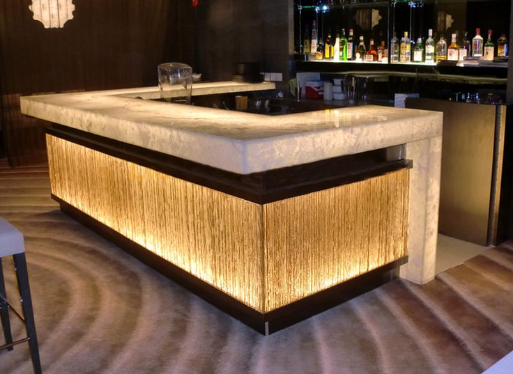 Luminated Design Commercial Night Club Bar Counter With LED Strips Part 67