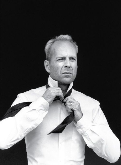 Black and White Photography Portrait of Bruce Willis