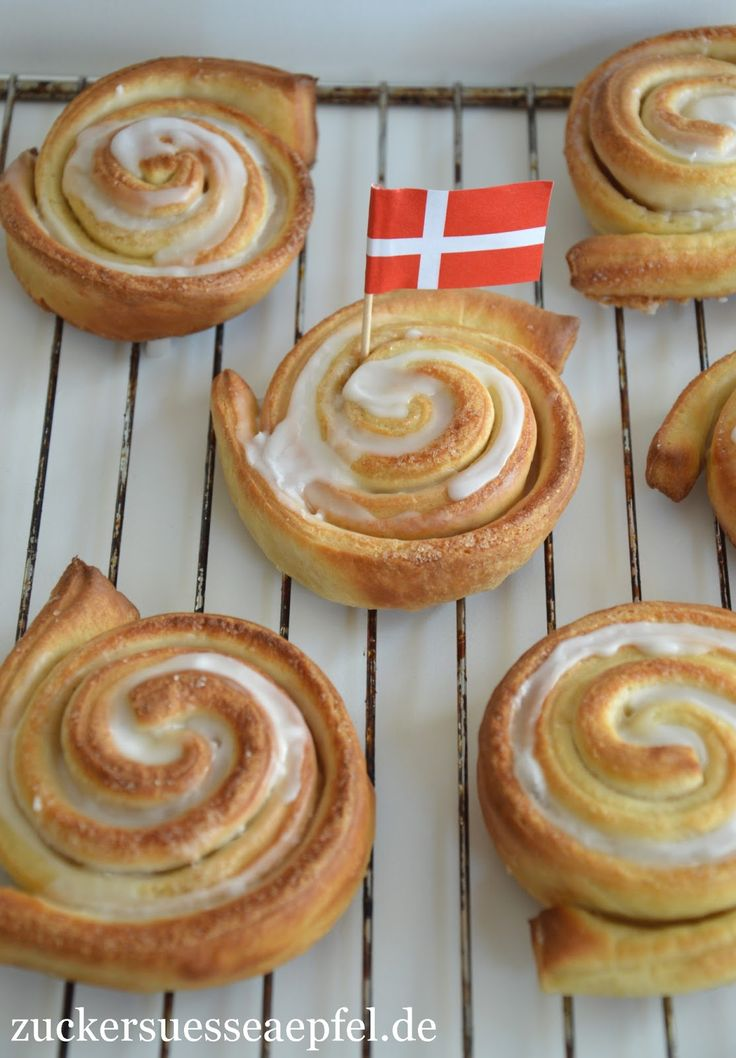 Dänische Zimtschnecken, Zimtschnecken, Kanelsnegle, Backen, Dänemark, Rezept, Familienküche