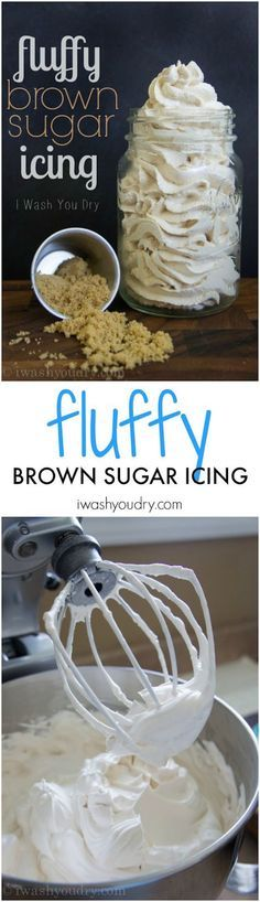 Fluffy brown sugar frosting