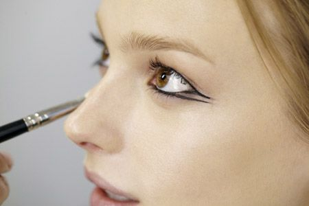 Double winged liner -- do we love it? (We kind of love it.) (@makeupdotcom) #liner #armani
