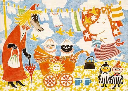 postcard by Tove Jansson