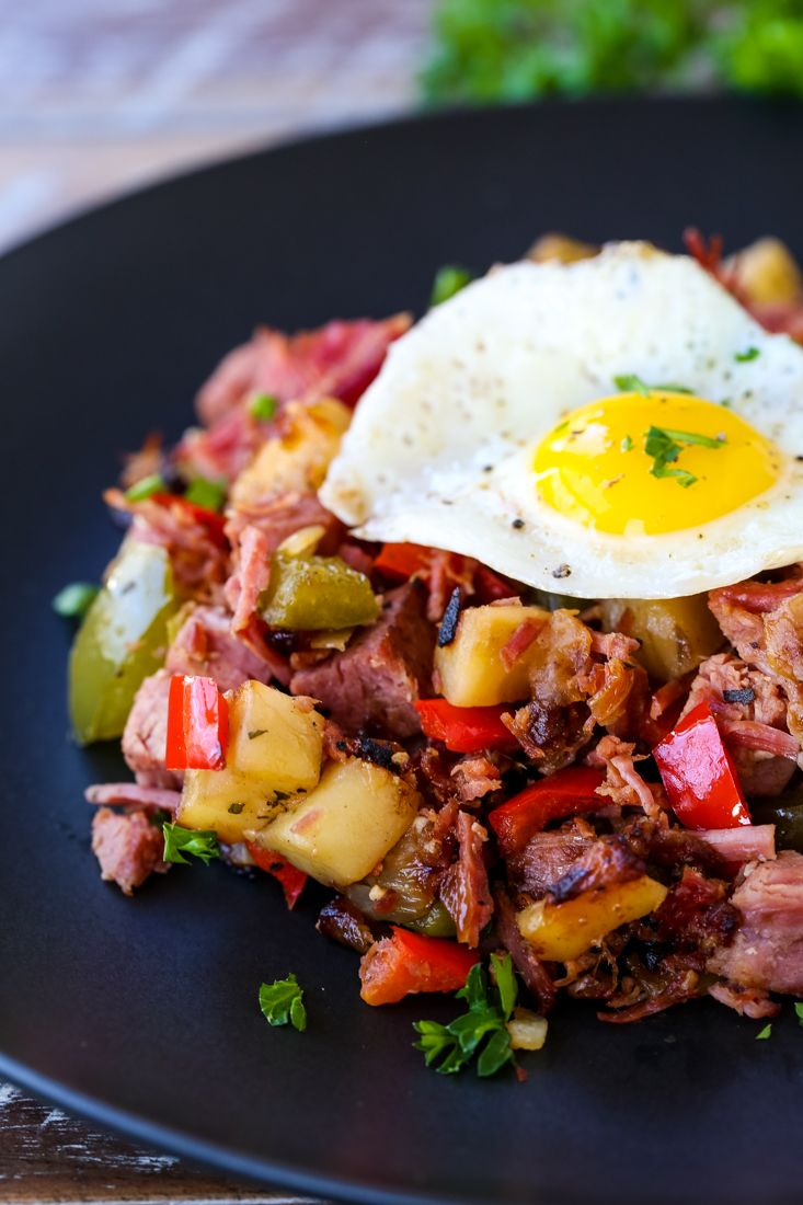 This Corned Beef Hash can be topped off with a fried egg ...