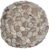 Ronde poef Pebbles – Grijstint | Shopstars.nl