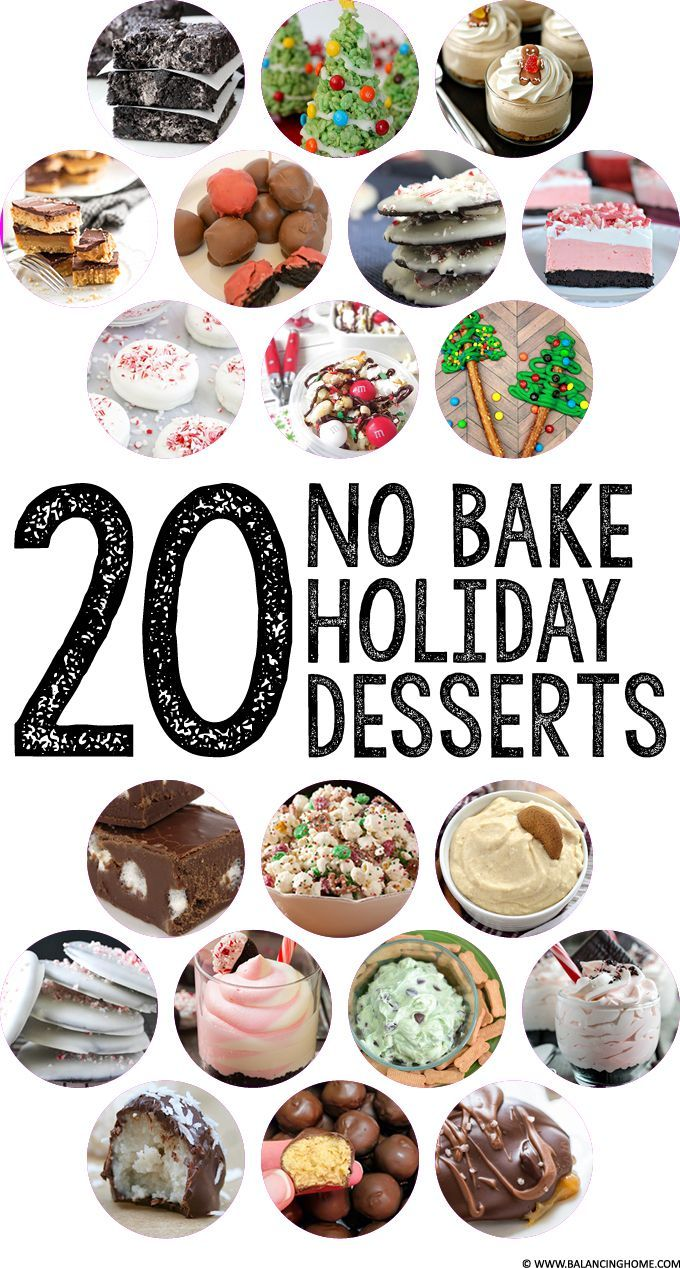 20 No Bake Holiday Dessert Recipes. Perfect for festive and yummy Christmas treat.
